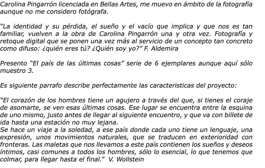 Texto Carolina Pingarrón